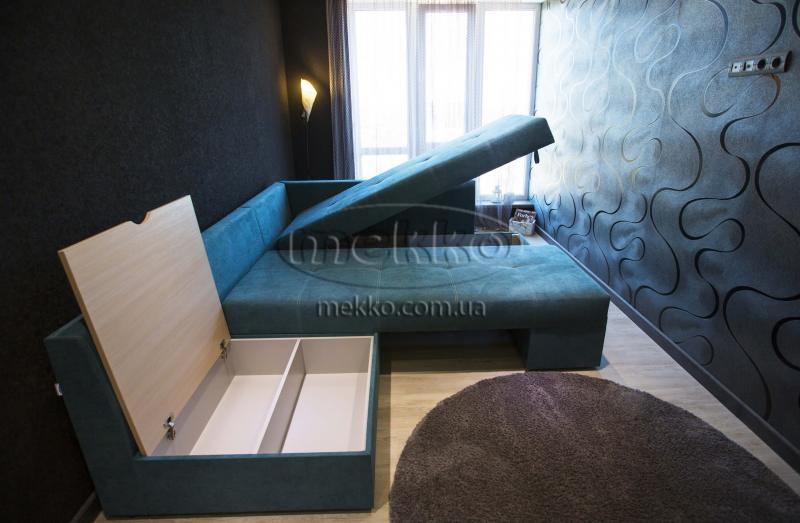 Кутовий диван з поворотним механізмом (Mercury) Меркурій ф-ка Мекко (Ортопедичний) - 3000*2150мм  Борзна-7